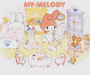 bunny, my melody, and rabbit image