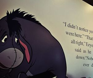 eeyore, quotes, and sad image