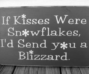 kiss, love, and snowflake image