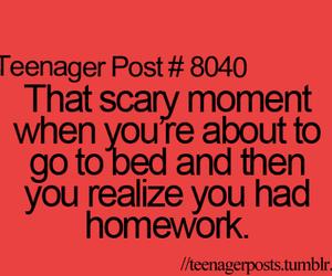 homework, teenager, and school image