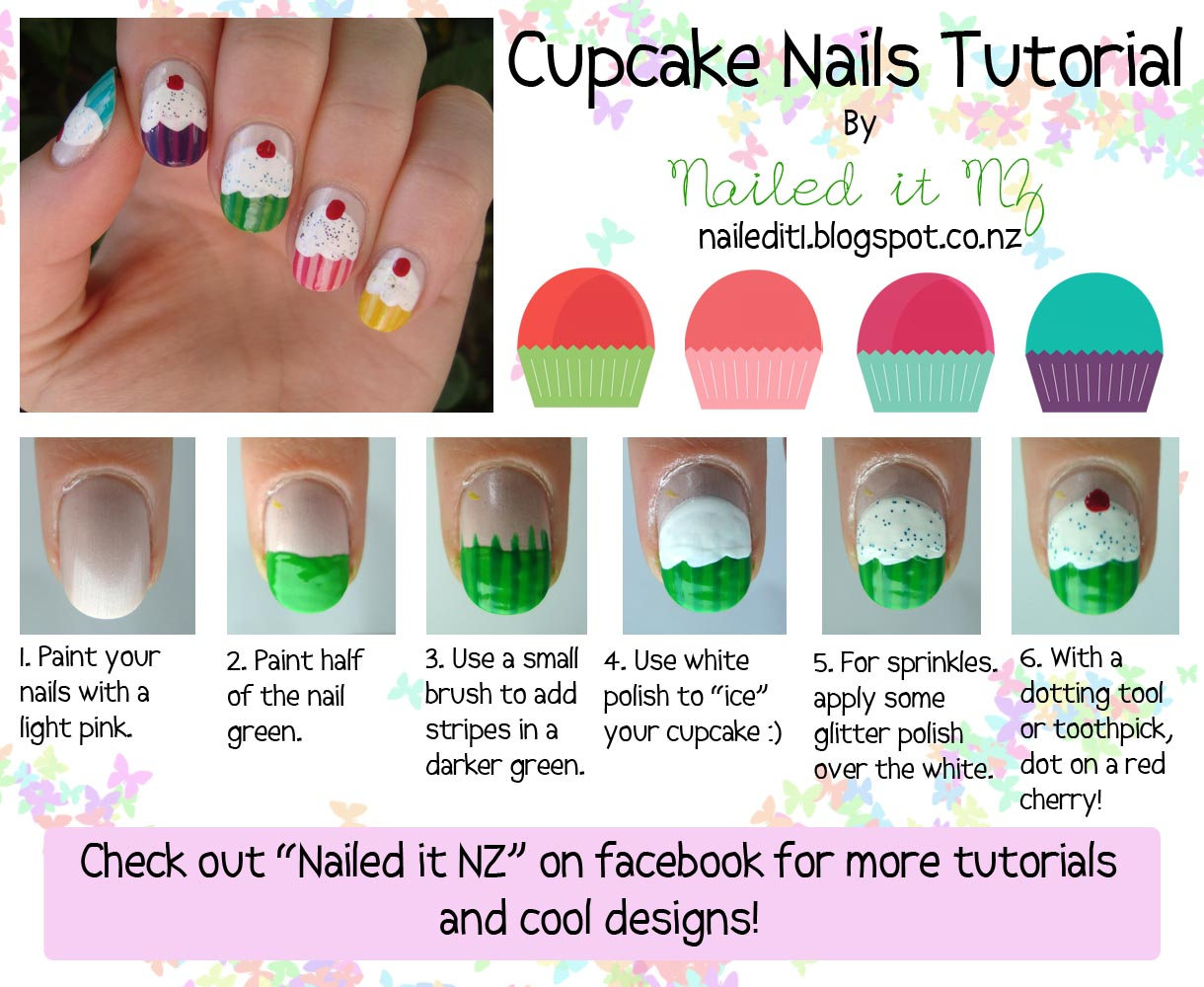 Nailed It Nz Nail Art For Short Nails 6 Cupcake Nails