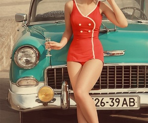 car, vintage, and fashion image