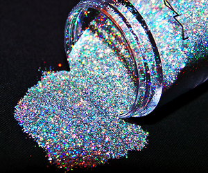 girl, make up, and glitter image