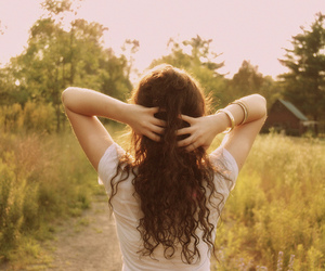 girl, curly hair, and hair image