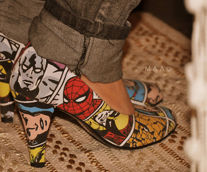 shoes, comic, and spiderman image