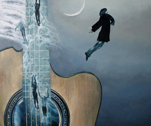 guitar, paintings, and philosophy image