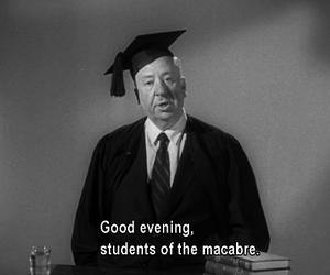 macabre, Hitchcock, and black and white image