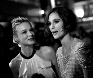 keira knightley, black and white, and Carey Mulligan image