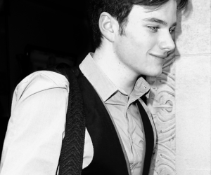 2012, black and white, and glee image