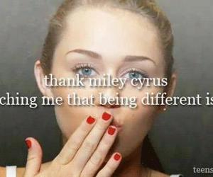 different, inspiration, and miley cyrus image