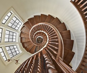 spiral, stairs, and style image