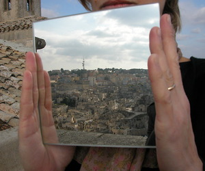 mirror, city, and aesthetic image