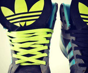 adidas, neon, and shoes image