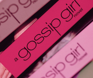 gossip girl, pink, and book image