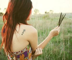 tattoo, hair, and key image