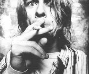 kurt cobain, nirvana, and black and white image