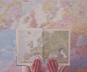 map, world, and hands image