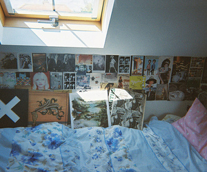 bed, hipster, and indie image