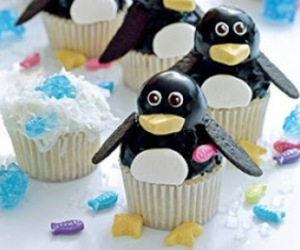 cake, cupcake, and penguin image