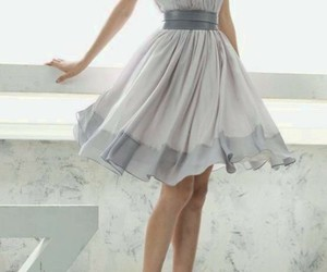 dress, grey, and pretty image