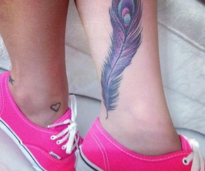 tattoo, vans, and pink image
