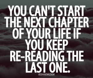 quote, life, and chapter image