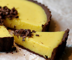 chocolate, dessert, and lemon image