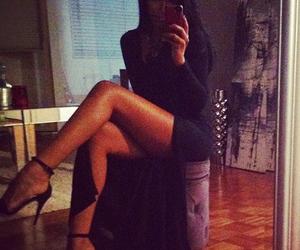 girl, dress, and legs image