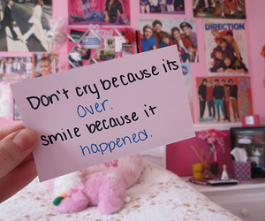 quote, cry, and smile image