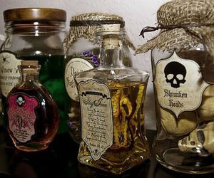 bottles, poison, and potion image