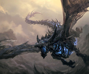 dragon and blue image