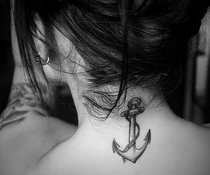 anchor tattoo, beauty, and earrings image