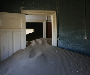 abandoned, interior, and sand image