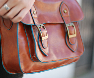 bag, brown, and lovely image