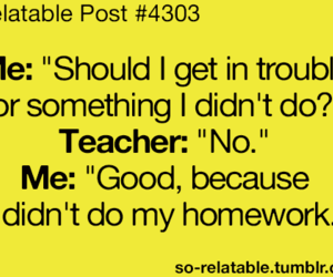 teacher, funny, and homework image