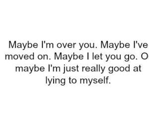 quote, lying, and sad image