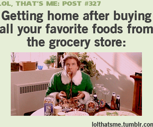 funny, food, and elf image