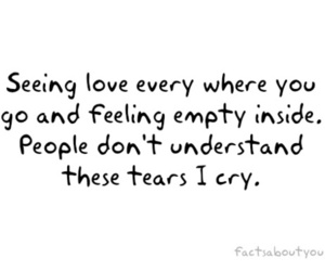 empty, quote, and love image