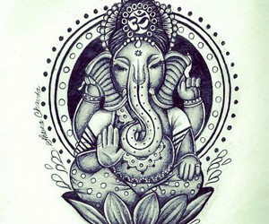 Ganesha, elephant, and peace image