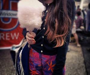 candy, fairy floss, and pink image
