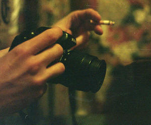 camera, photography, and cigarette image