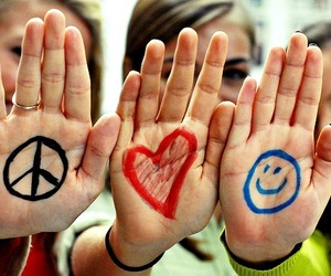 peace, love, and smile image
