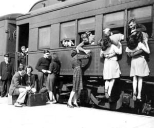 love, train, and kiss image