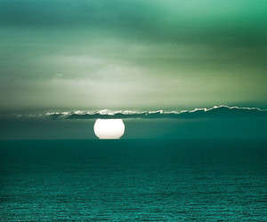 sea, sun, and ocean image