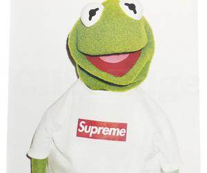 supreme, frog, and kermit image