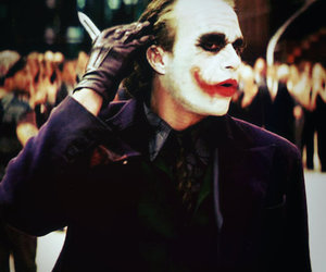 heath ledger, the dark knight, and the joker image