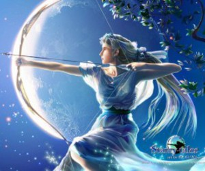 artemis, long hair, and blue image