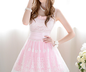 lace, pink, and pink lace image