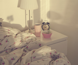 bed, morning, and room image