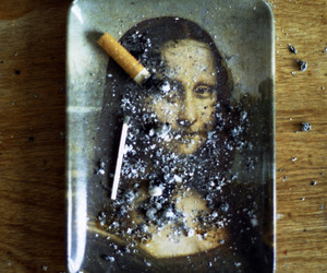cigarette, mona lisa, and art image